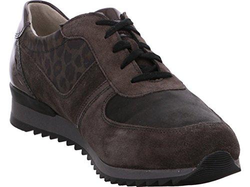 Waldläufer - Zapatos de Cordones de Terciopelo Mujer, Marrón (marrón), 39 EU