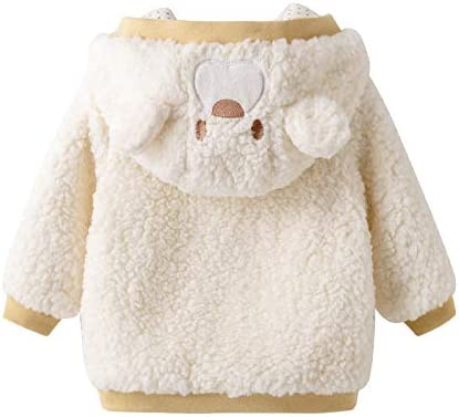 Auro Mesa Unisex Baby Fleece Jackets /& Coats Baby Girl boy Winter Clothes Infant Jackets Coat Hooded Little Boys Toddler Coat