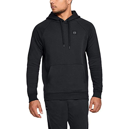 Under Armour Men's Rival Fleece Hoodie, Black (001)/Black, 3X-Large by Under Armour (Image #1)
