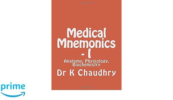 Old Fashioned Medical Mnemonics Anatomy Mold - Anatomy And ...