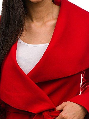 Motivo Corto D4D Cuello Waterfall Rojo Mujer Abrigo BOLF EqYCwnaT7