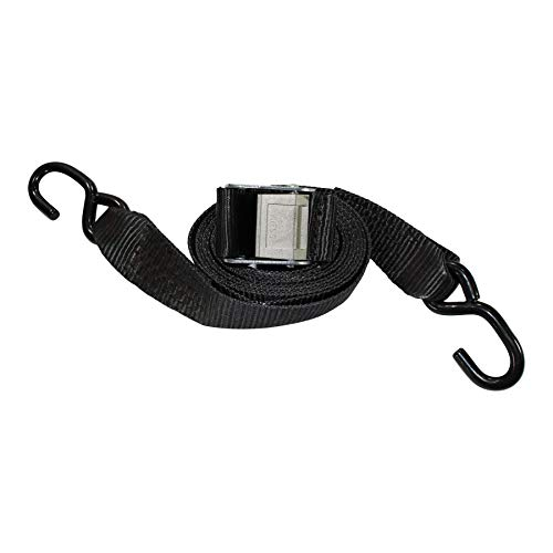 (Gunwale Straps - SGT KNOTS - Marine Trailer Tie Down Accessories for Boats - Heavy Duty Cam Buckle Transom Strap - Zinc Plated Hooks - Durable Webbing - Trailer to Boat Safety Tie Downs with Hook)