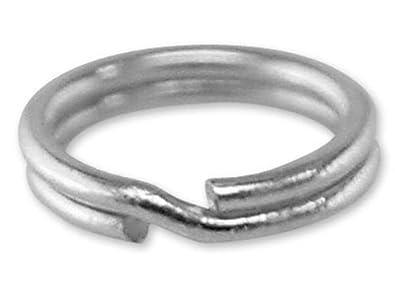 10 Stück Spaltringe 5 mm 925 Silber Schmuckzubehör