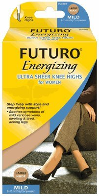 Futuro Ultra Sheer Mild Support Knee Highs for Women - in Black, Small by Futuro
