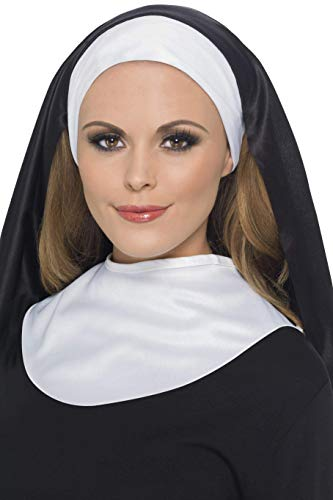 Smiffys Women's Nun's Kit, Headpiece and Collar, One