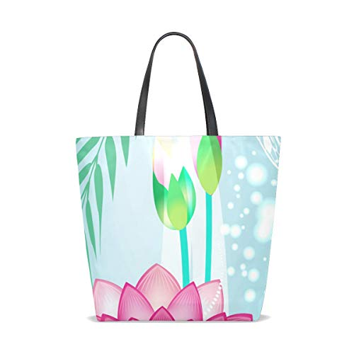Unique Taille Dragonfly Femme Bennigiry Pour Lotus Cabas 001 Tote w8nRZqBH