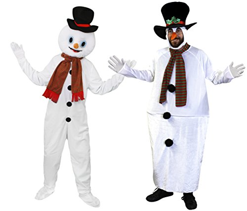 c0550ad79ca UNISEX CHRISTMAS SNOWMAN FAT SUIT FANCY DRESS COSTUME - SNOWMAN COSTUME  WITH LARGE HOOP SUPPORTED JUMPSUIT