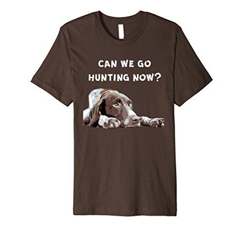 Mens German Shorthair Pointer Hunting? T-Shirt 2XL Brown (Shorthair Pointer)
