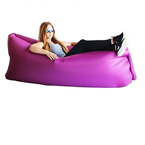 akface trade;Inflatable Lounger Couch Chair, Indoor or Outdoor Foldable Air Sleeping Lazy Bag,Sofa,Beach Hammock Bed,Portable Waterproof Compression Sacks for Camping, Pool, Park, Backyard