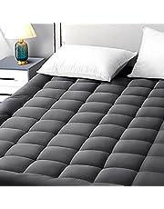 """EASELAND Mattress Pad Cover Cotton Top 8-21"""" Deep Pocket Pillow Top Mattress Topper"""