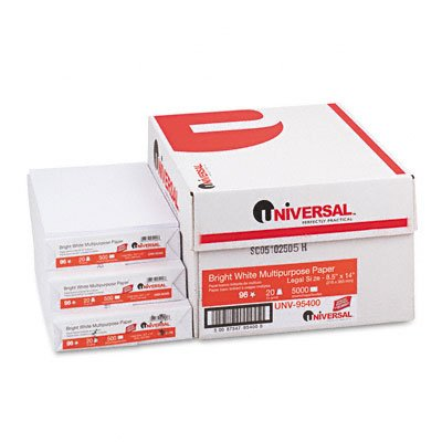 Universal : Copy/Laser Paper, 98 Brightness, 20lb, Legal, White, 5,000 Sheets/Carton -:- Sold as 2 Packs of - 10 - / - Total of 20 Each by Universal