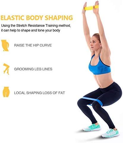 TechRise Gomas Elasticas Musculacion, Cintas Elasticas Musculacion Set de 5 Cintas Elásticas Fitness y Musculación de Látex Natural Agradable a la ...