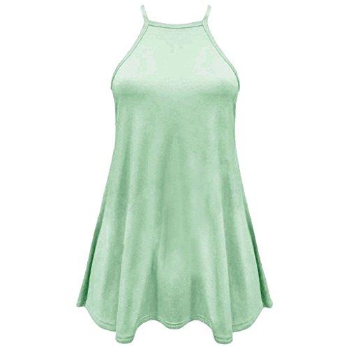 girlzwalk® Mujer cuello alto Cami sin mangas Swing–Chaleco salvavidas para mujer Skater Top Plus Tamaño Mint