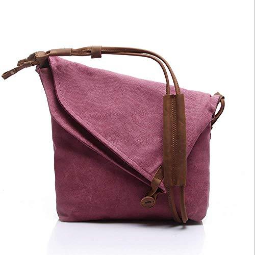 Mujeres Compras Bag Solapa De b Para Slouch Bolsa Lona Colegio Personalidad Crossbody Bolso Mano Señoras D Hombro 5wXHffq6