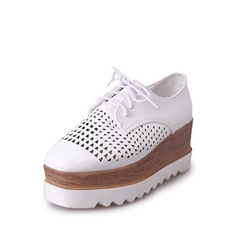 Zapatos de plataforma de verano/Con la cabeza correa zapatos/Zapatos de suela gruesa blanco