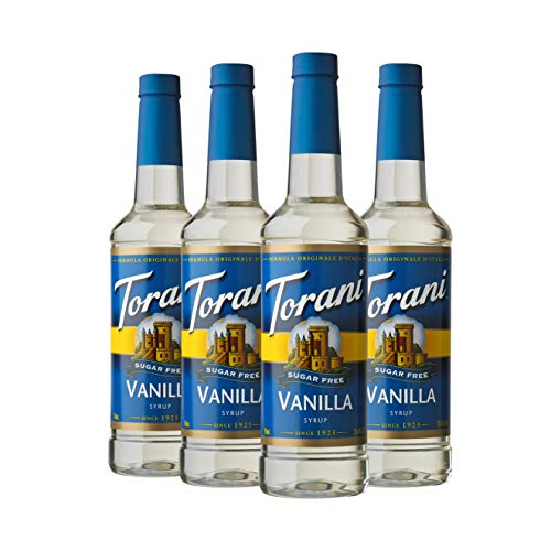 Torani Sugar Free Syrup, Vanilla, 25.4 Ounce (Pack of 4) (Torino Stock)