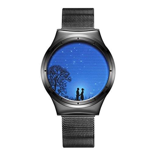 VIGOROSO Fashion Mens Boy's Smart Touch LED Quartz Waterproof Sports Wrist Watch