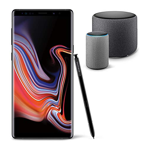 Samsung Galaxy Note 9 Unlocked Phone 512GB,Midnight Black with Echo Sub and Echo (2nd Generation) - Smart speaker with Alexa