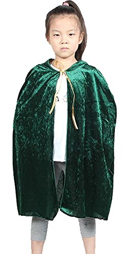 Urban CoCo Kids Hooded Cloak Cape Role Play Costumes (Green)