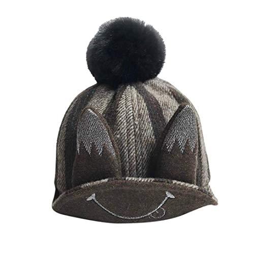 Tronet Baby Hat,Kids Boys Girls Hat Children Cartoon Ears Print Winter Cap (Coffee, Age:6-12 ()