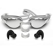 [Patrocinado] Zoma Swimming Goggles with Anti Fog Technology - 3 Piece Adjustable Nose Bridge for Perfect Comfortable Fit for Adults and Kids - Ergonomic Silicone Earplugs Included