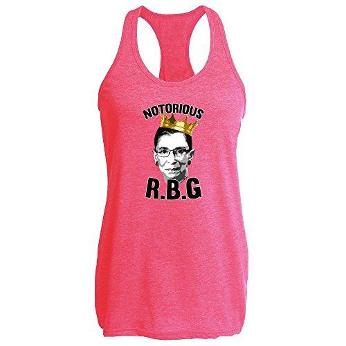 d8e0c9806 Notorious R.B.G. RBG Supreme Court Feminist Political Heather Fuchsia XL  Womens Tank Top