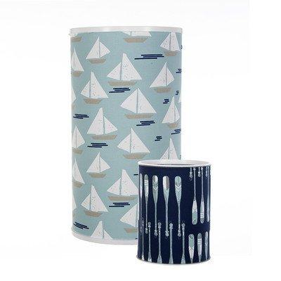 Glenna Jean Spa Collection - Glenna Jean Little Sail Boat Hamper & Waste Can Set, 23.5'' x 13'' x 13'' & 11'' x 8.5'' x 8.5''
