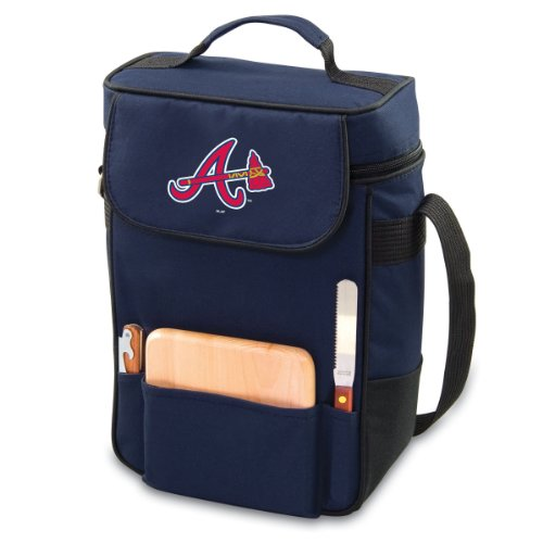 UPC 099967304566, MLB Atlanta Braves Duet Insulated 2-Bottle Wine and Cheese Tote