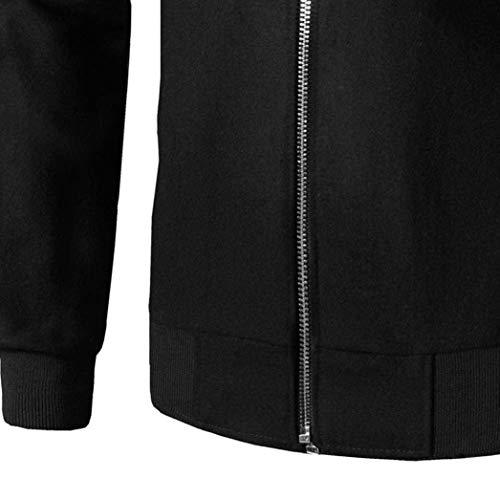 Calda Patchwork Stare Bomber A Giacca Inverno Sottile Abbigliamento Lunghe Forma Collare Outwear Cappotto Schwarz In Maniche Huixin Uomini Autunno wq8IZnzE