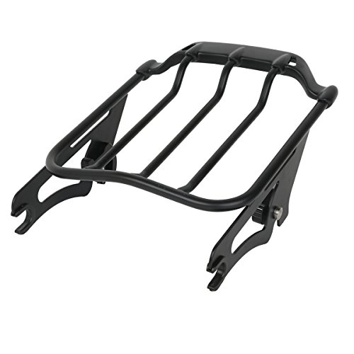 XMT-MOTO Black Air Wing Two Up Luggage Rack fits for Harley HD Touring Street Glide 2009-2018 ()