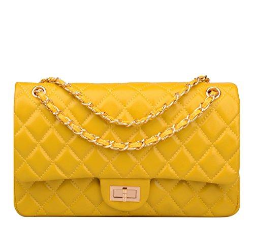 Yellow Leather Handbags - 5