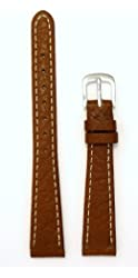 Ladies' Genuine Italian Sport Leather Watchband Tan 14mm Watch Band - by JP Leatherworks