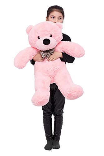 MorisMos Teddy Bear Soft Stuffed Bear Animals Plush Toy for Girlfriend Kids (Pink, 39 Inch)