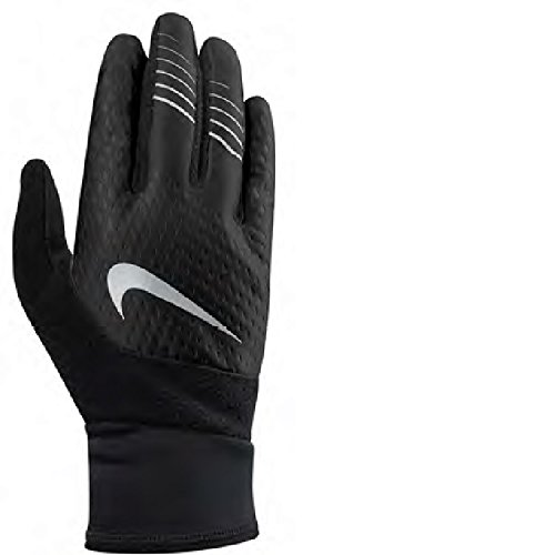 Nike Men's Therma Fit Elite Run Gloves,2.0, size Large (Black/Silver)