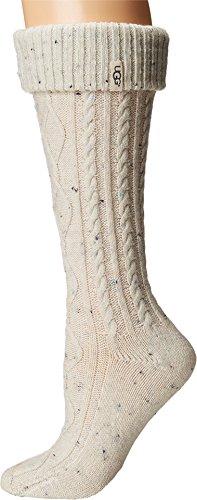 UGG Australia Women's Shaye Tall Rain Boot Socks (Cream, Shoe Size 5-10)
