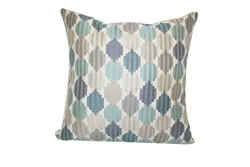 Urban Loft by Westex Jagged Edge Feather Filled Decorative Throw Pillow Cushion, 20 x 20, Blue [並行輸入品] B07RCVMR3J