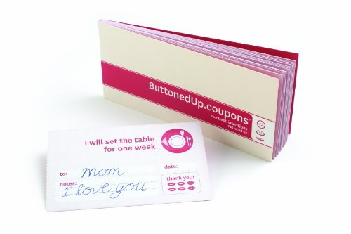 Buttoned Up Coupons Tan/Red (1063 - Coupon Booklet