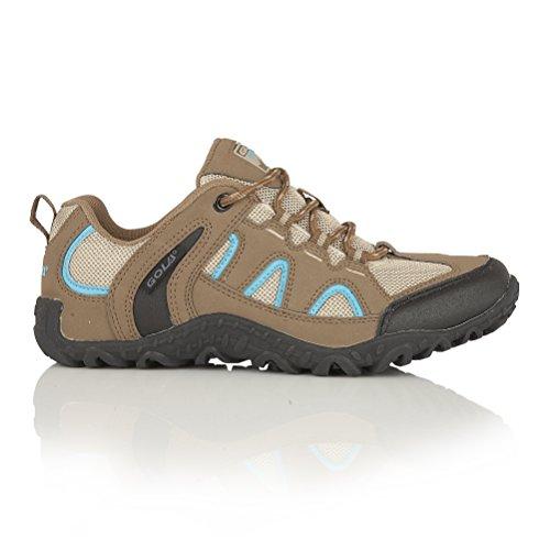 Gola - Zapatos de senderismo modelo Elias para mujer Marrón/azul/negro