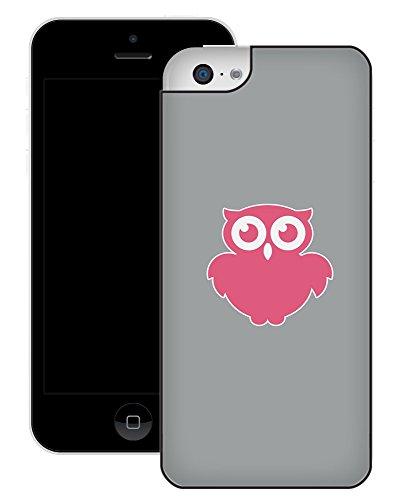 Hibou   Fait à la main   iPhone 5c   Etui Housse noir