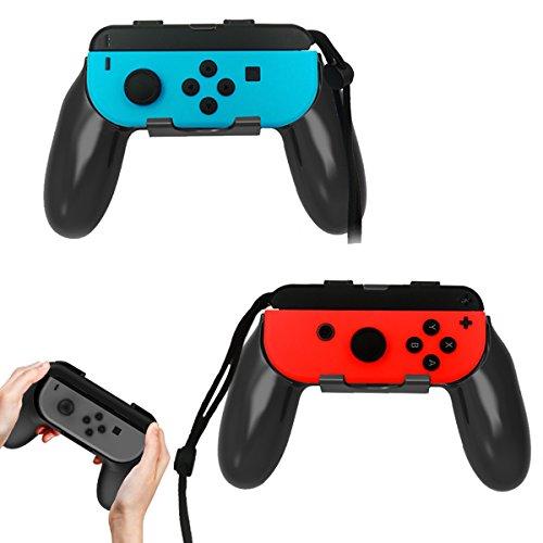 F1 Car Steering Wheel (2pcs Switch Joy Con Grips , Hongfa Replacement Joy-Con Handle for Nintendo Switch Controller-(Black))