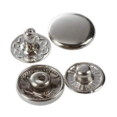 (220 To 24-50 X Metal Pushbuttons Rivets Buttons Silver - Pushbutton Newspaper Power Press Adapter Button Rivets Magnet Conditioner Buttons Snap 220v Jean Thin Transformer Plug Stud Tool Sup)