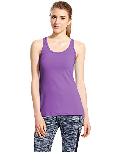 Baleaf Women's Yoga Fitness Workout Soft Racerback Tank Top Purple Size S (Workout Racerback Tank compare prices)
