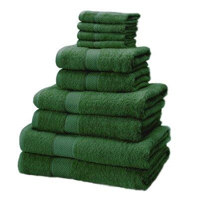 Linens Limited - Juego de 10 toallas - 100% algodón turco - Verde bosque: Amazon.es: Hogar