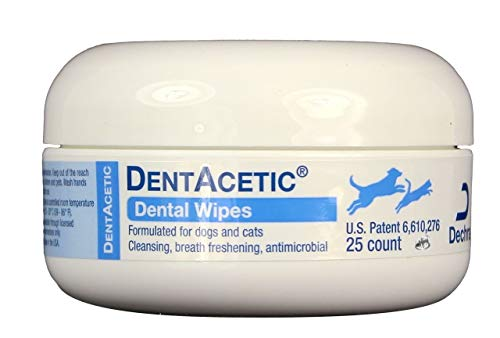 Dechra DentAcetic Dental Wipes for Cats and Dogs 25 ct -