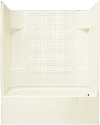 Sterling Plumbing 71140120-96 Accord Bath and Shower Kit, 60-Inch x 30-Inch x 72-Inch, Right-Hand, Biscuit