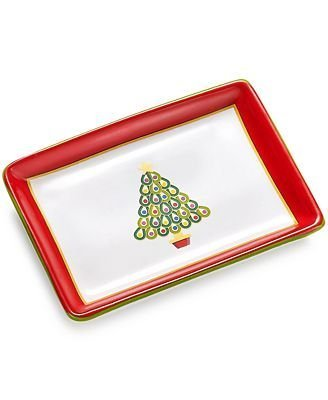 Charter Club Christmas Tree - Holiday Tray Tidbit