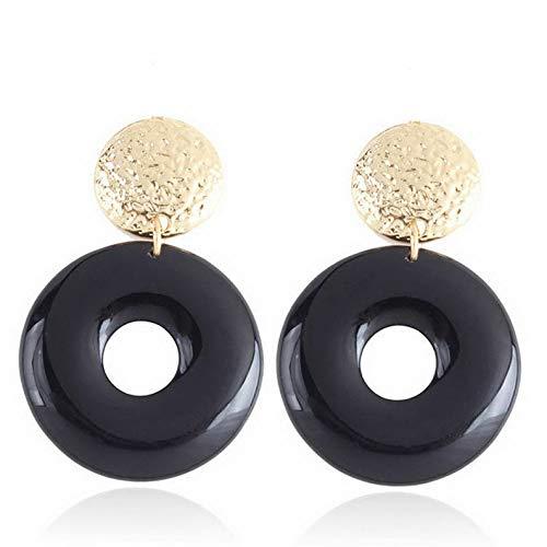 Waldenn Boho Geometric Women Leopard Round Dangle Drop Hook Ear Stud Earrings Jewelry | Model ERRNGS - 9081 |