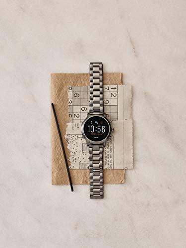 Fossil Gen 5 Carlyle Reloj inteligente con pantalla táctil de acero inoxidable con altavoz, frecuencia cardíaca, GPS, NFC y notificaciones de smartphone 9