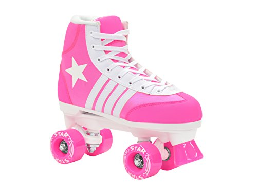 Epic Skates Star Kids Quad Roller Skates, Black, Youth 2