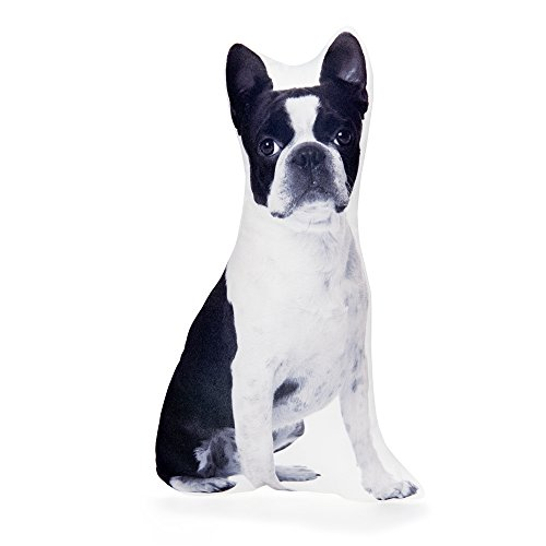 Boston Terrier Animal Shape Throw Pillows PREMIUM Quality Light Weight Easy To Clean for Couch Bed and Sofa by Cushion Co. by Cushion Co
